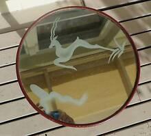 Vintage Retro shabby chic mirror top table 50cm high 40cm across Prospect Prospect Area Preview