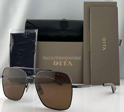 DITA FLIGHT SEVEN Sunglasses Black Iron Brown Lens DTS111-57-03 (Dita Flight)
