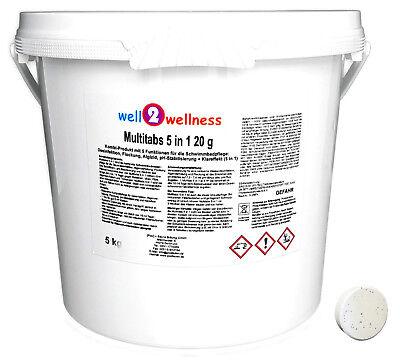 Kleine Chlor Multitabs 5in1 20g / Chlortabletten 20g / Kombitabs 20g - 5,0 kg Kleine Tabs