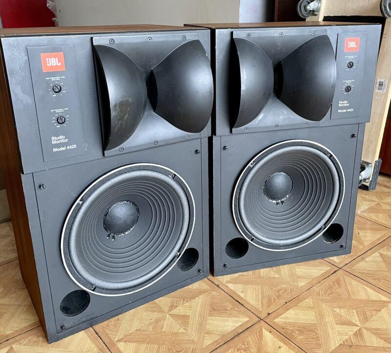 Vintage JBL 4425 Studio Monitors Audiophile Speakers .no west coast shipping.