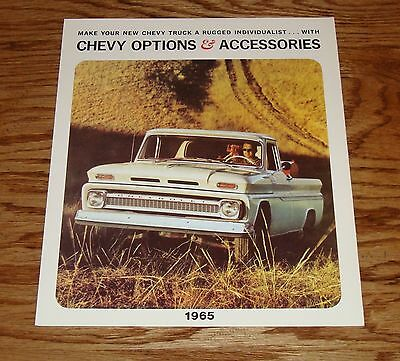 Chevrolet Truck Accessories Brochure - 1965 Chevrolet Truck Options & Accessories Foldout Sales Brochure 65 Chevy