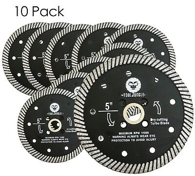 5 Inch  Diamond Turbo Saw Blade Granite, Concrete, Tile, Stone, 10 PIECES (Tile Saw Blade 10)