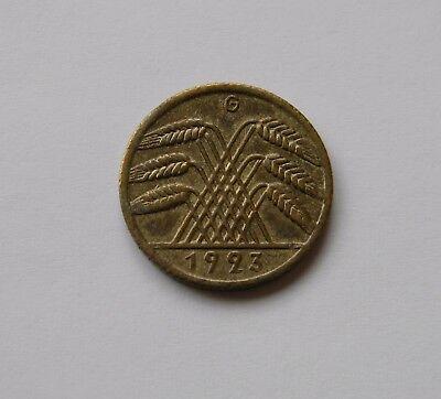 WEIMAR: 10 Rentenpfennig 1923 G, J. 310, sehr schön !!! SELTEN !!!