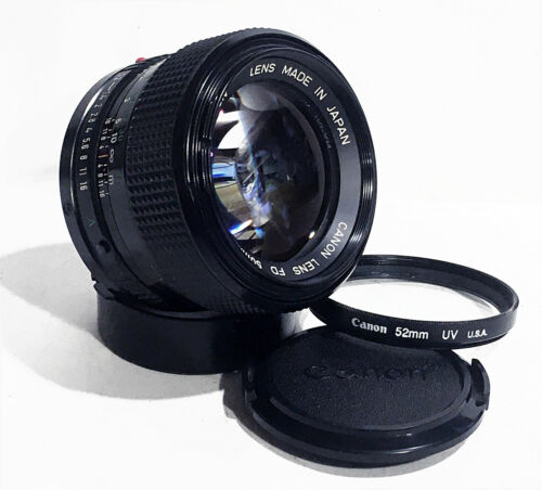 MINT Canon FD 50mm f/1.2 Super Fast Standard Prime 35mm Manual lens with Case