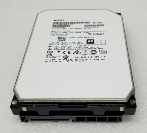"""HGST 0F29813 8TB 128MB 7200RPM 12G SAS 3.5"""" Hard Drive HUH728080AL5205 12Gbps"""