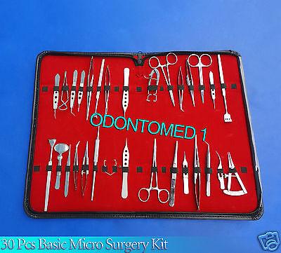 30 Pcs Basic Eye Micro Surgery Surgical Instruments Set Kit
