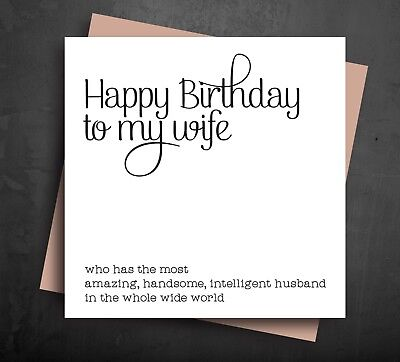 FUNNY BIRTHDAY CARDS husband for best wife greetings card cheeky humour