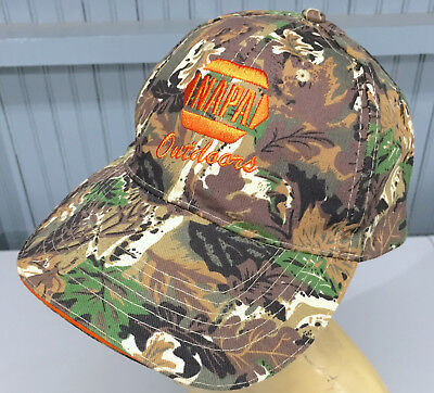 NAPA Auto Parts Outdoor Camo Hunting Adjustable Baseball Cap Hat for sale  Shipping to Canada