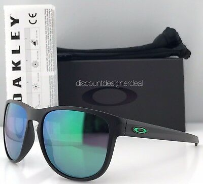 Oakley Sliver R Sunglasses OO9342-05 Matte Black Jade Iridium Mirrored Brand New