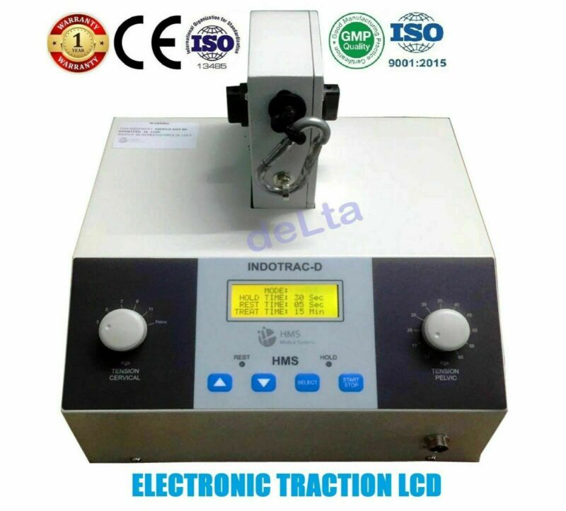 Lumbar Cervical Traction Machine Physiotherapy Traction Pain Relief LCD CE Model