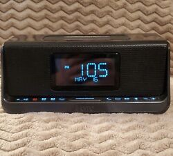 iHome Wireless Dual Charging Bluetooth Stereo Speaker System Dual Alarm Clock