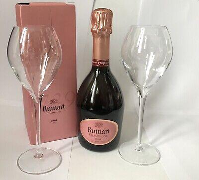 Ruinart Rose Champagner Flasche 0,375l 12%Vol Rosé + 2 Ruinart Gläser