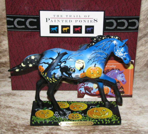 TRAIL OF PAINTED PONIES Graveyard Gallop Low 1E/0254~Halloween~Ghosts~Black Cats
