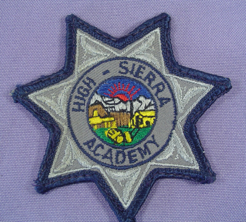 Nevada High Sierra Academy Embroidered Shoulder Souvenir Patch Star Shaped