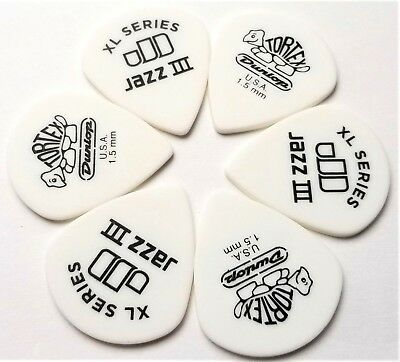 Dunlop Tortex Jazz III XL  6 Picks 1.5mm for sale  Shipping to India