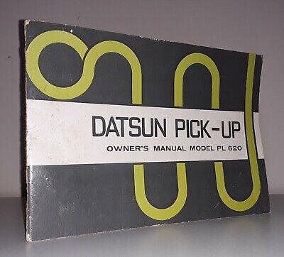 Vtg 1973 Datsun Nissan Model PL 620 Pick-Up Truck, Pick Up Owner's Manual