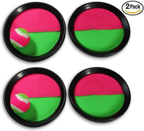 Paddle Catch Toss and Catch Ball Game Set! Throw Catch Bat Ball Game (2 Pack)