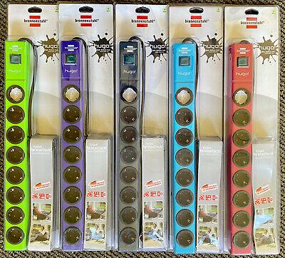brennenstuhl hugo Steckdosenleiste 8-fach mit Schalter & Kinderschutz  2 m Kabel
