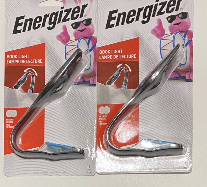 2x Energizer Clip On Battery Operated Book Light New & Sealed Batteries Included