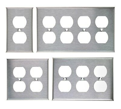 (DUPLEX PLUG OUTLET STAINLESS STEEL COVER PLATE 1 2 3 4 GANG)