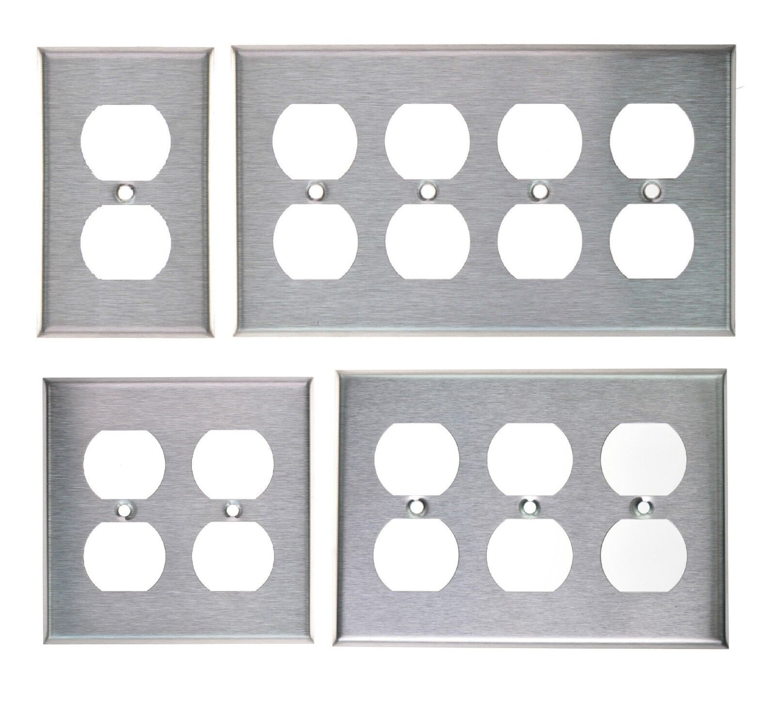 Купить DUPLEX PLUG OUTLET STAINLESS STEEL COVER PLATE 1 2 3 4 GANG