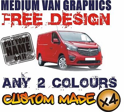MEDIUM VAN CUSTOM VEHICLE GRAPHICS SIGN WRITING KIT DECALS STICKERS LETTERING