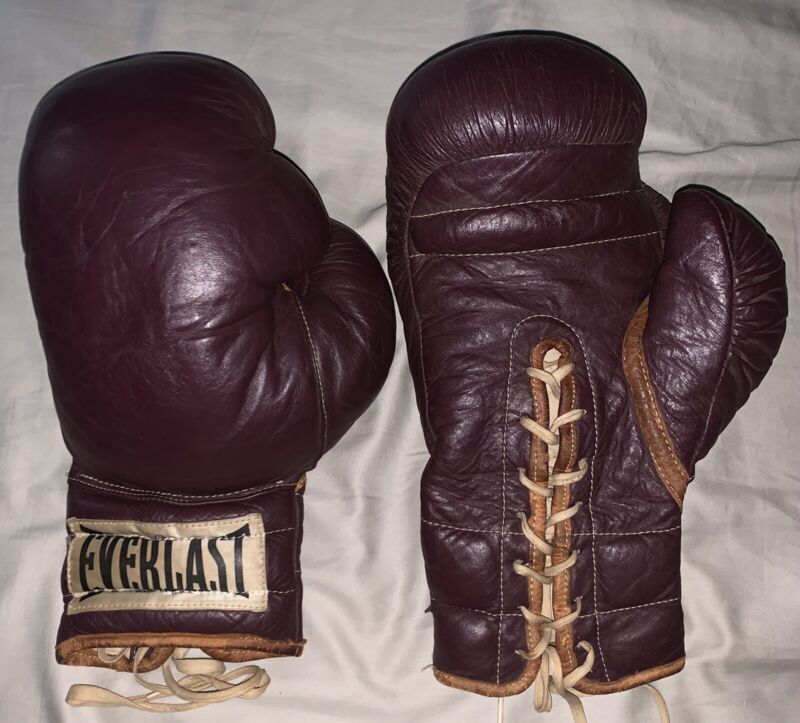 Vintage Everlast Boxing Gloves; Made In USA; From Late 1940's / Early 1950's