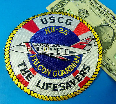 U S  Coast Guard Patch Uscg The Lifesavers Hu 25 Falcon Guardian  4    Wide  Am