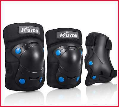 Knee Pads For Kids Protective Gear Set Elbow Wrist Guards 3 In 1 Skateboarding I