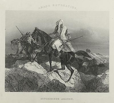 Araber auf dem Rückzug. A. H. Payne, um 1840