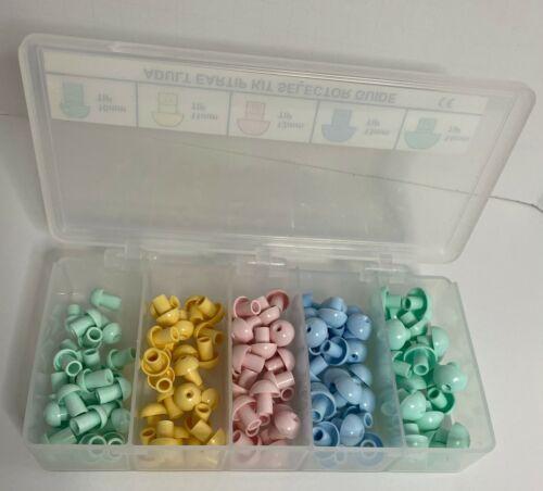 GSI-8013159 Grason-Stadler Eartip Kit; Adult, 25 Each of 5 Sizes 10-14mm
