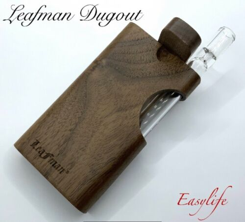 """Wood Dugout With 3"""" Glass One Hitter US SELLER SAME DAY SHIP"""