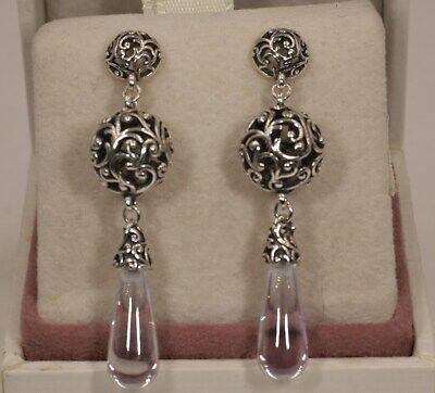 AUTHENTIC PANDORA Regal Droplets Drop Earrings, 297686CZ  #1610 w/Box](Pearl Earrings Droplets)