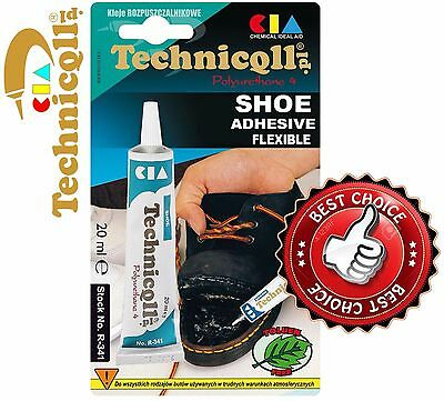 TECHNICQLL SHOES STRONG GLUE ADHESIVE LEATHER RUBBER FELT NYLON TRANSPARENT SHOE