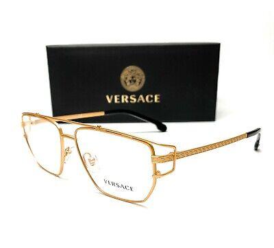 Versace VE1257 1410 Matte Gold Demo Lens Men's Eyeglasses 55mm