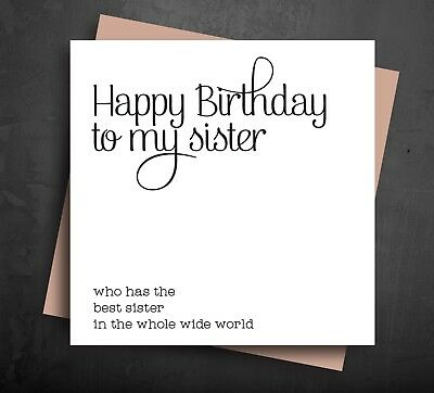BIRTHDAY CARD Happy Greetings for older Sister Best from Comedy Funny Cheeky (Best Birthday Greeting Cards For Sister)
