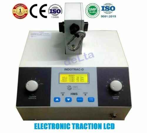 Cervical & Lumbar Traction Indotrac-D Machine LCD Display For Physiotherapy Unit