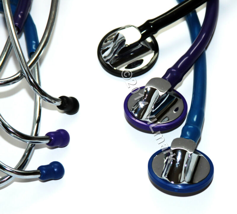 Professional Cardiology Stethoscope BLACK, BLUE, PURPLE 14a Pick  Up Your Color