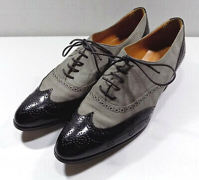Spats, Gaiters, Puttees – Vintage Shoes Covers Ralph Lauren Tap Spats Oxfords Womens Size 9B Gray/Black Made In Italy $45.01 AT vintagedancer.com
