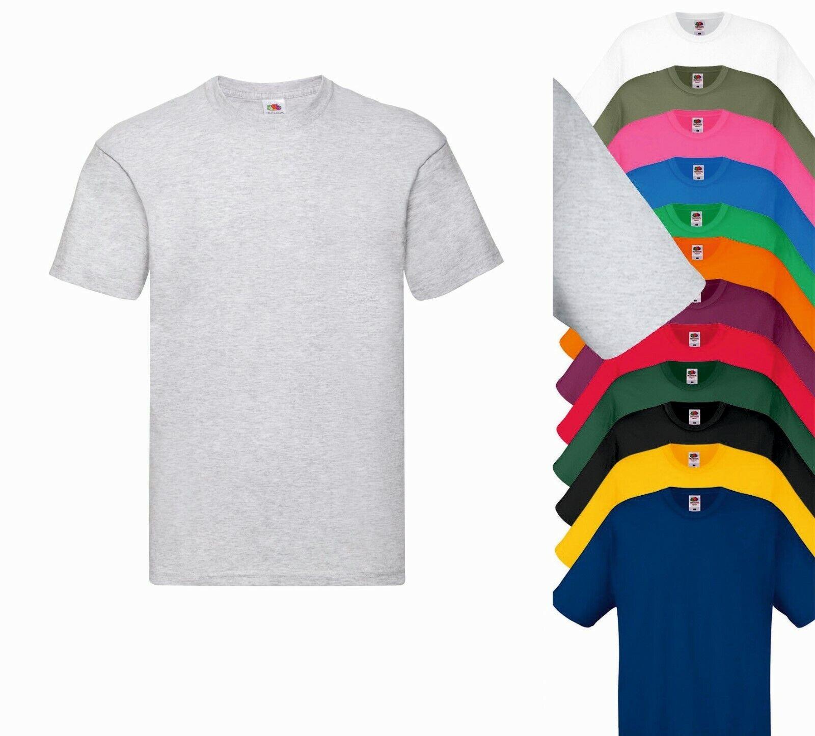 Pacco 5 Magliette Da Stampare Stock T-Shirt Cotone Fruit of