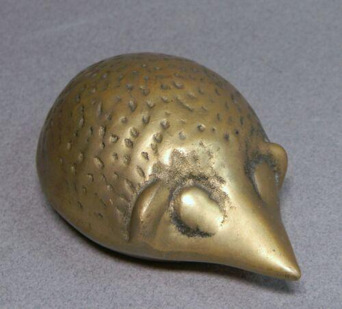 Small Brass Hedgehog Figurine
