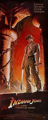 Indiana Jones And The Temple Of Doom Movie Poster 14X36 Insert Harrison Ford
