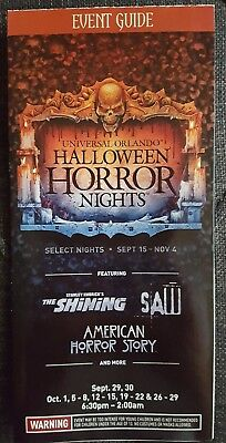Halloween Horror Nights/ Universal Orlando 2017 Map - Halloween Horror Nights Map 2017