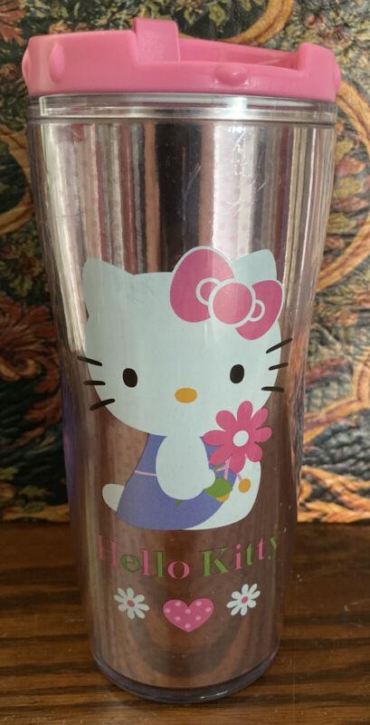 Sanrio HELLO KITTY Insulated Coffee Tumbler Pink Original Screw On Lid