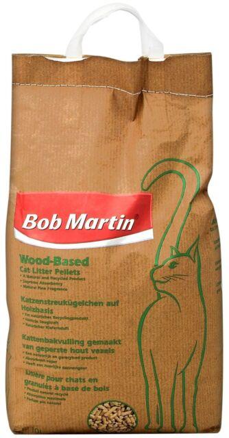 Bob Martin Wood Based Cat Litter Pellets 10 Liter NEW
