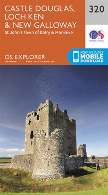 Castle Douglas Loch Ken and New Galloway Explorer Map 320 2015