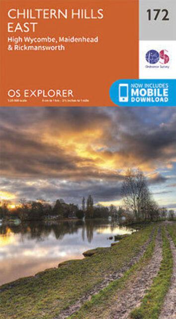Chiltern Hills East 172 Explorer Map Ordnance Survey 2015
