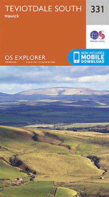 Teviotdale South Explorer Map 331 Ordnance Survey 2015