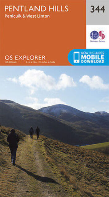 Pentland Hills Explorer Map 344  Ordnance Survey 2015