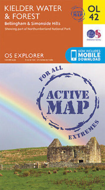 OL42 Kielder Forest & Water Laminated Active Explorer Map OL 42